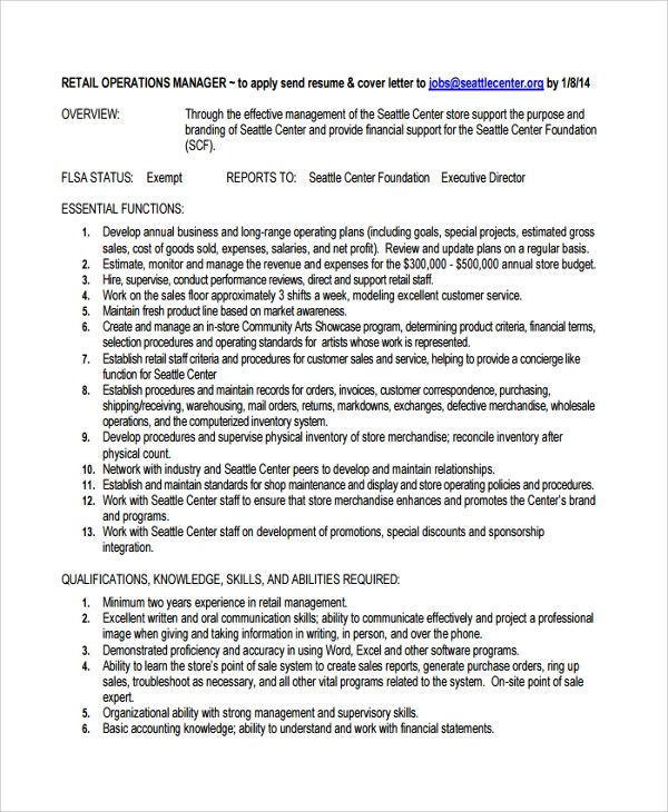 Sample Director of Operations Resume - 7+ Free Documents Download in
