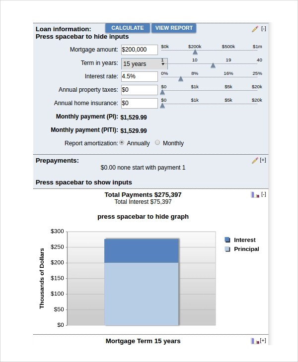 Sample Bank Rate Mortgage Calculator - 7+ Free Documents Download - bank rate mortgage calculator