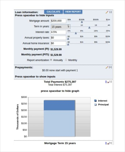 Sample Bank Rate Mortgage Calculator - 7+ Free Documents Download in PDF, Excel