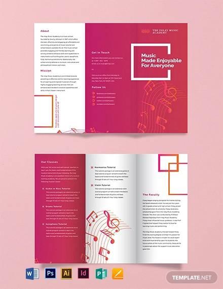 21+ Music Brochures - PSD, AI, Google docs, Apple pages