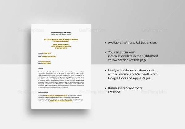 Sample Memo - 31+ Examples in PDF