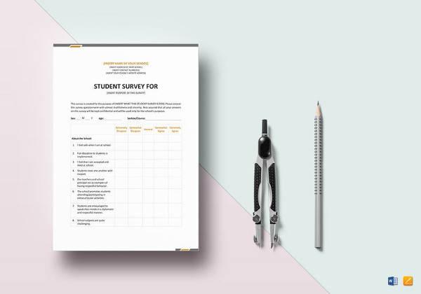 Student Survey Template - Costumepartyrun - student survey template
