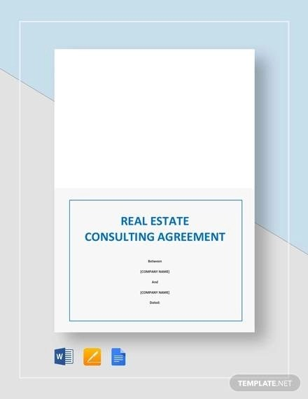 Sample Real Estate Consulting Agreement Templates - 9+ Documents