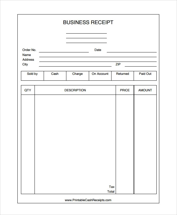 28+ Receipt Templates Sample Templates