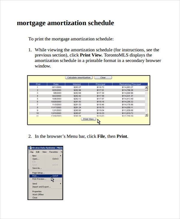7+ Mortgage Amortization Calculator Templates Sample Templates - Mortgage Amortization Calculator