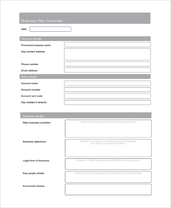 Small Business Plan Sample Yourbusinesspal Sample Service Business Plan Template 7 Free Documents