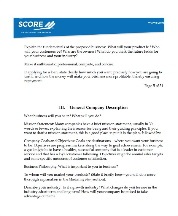 Sample Software Business Plan Template - 7+ Free Documents Download