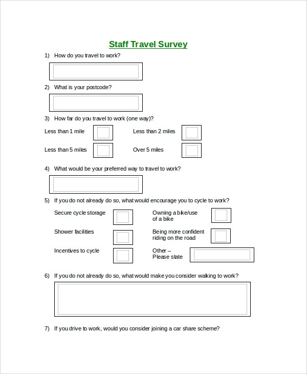 Awesome Travel Survey Template Images  Best Resume Examples And