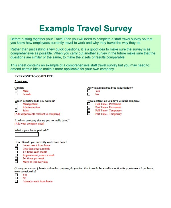 Berhmt travel survey template fotos bilder fr das lebenslauf travel survey template questionnaire on travel and tourism thecheapjerseys Image collections