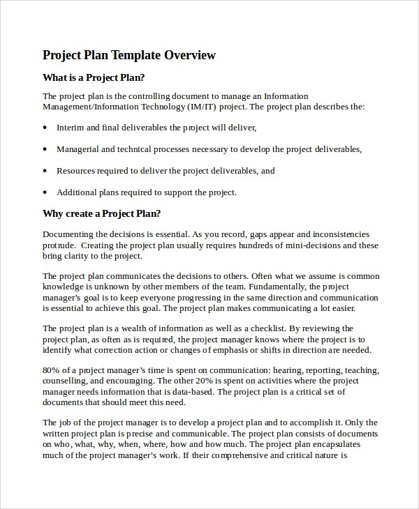 Project Plan Sample Sample Project Work Plan In Word Work Plan - it project plan template