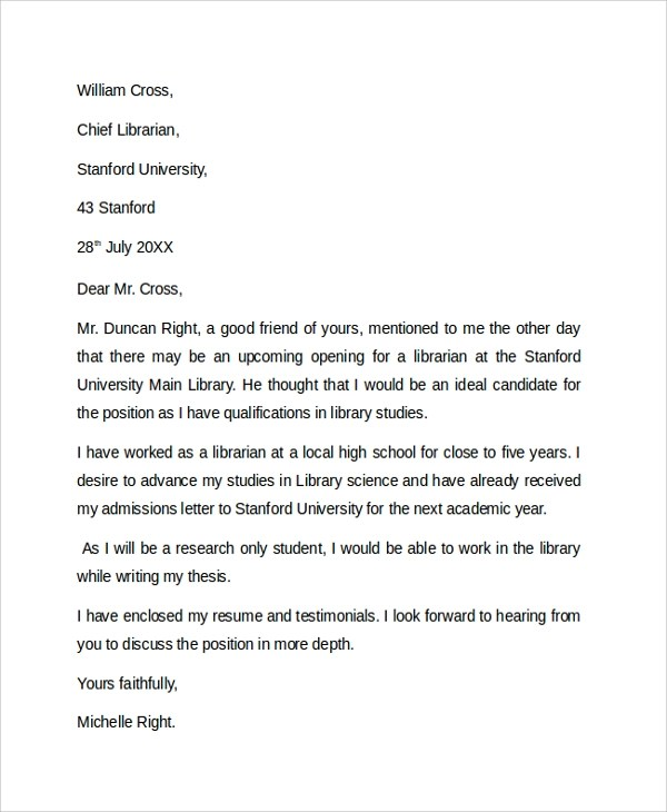 Cover letter and sample edu com