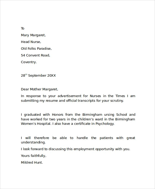 Cover Letter Examples It Job Cover Letter Examples Sample Cover Letter Example Template 29 Free Documents