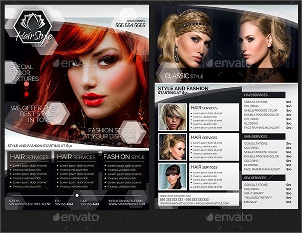 18+ Hair Salon Flyer Template - PSD,Free, EPS Format Download - hair salon flyer template