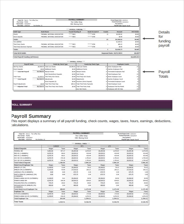 Sample Payroll Report Template - 8+ Free Documents Download in Word, PDF