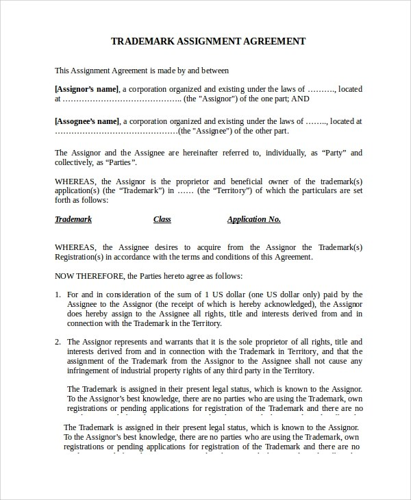 Lease Agreement Assignment | Affidavit Form Kenya