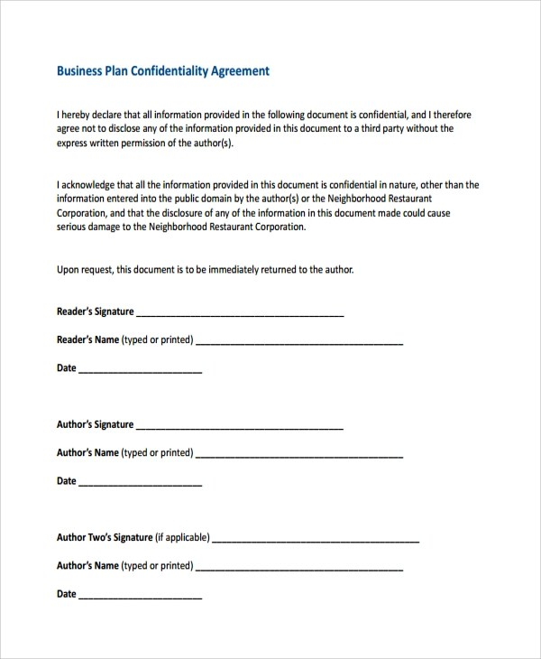 Free Confidentiality Agreement Free Confidential Disclosure - confidentiality statement