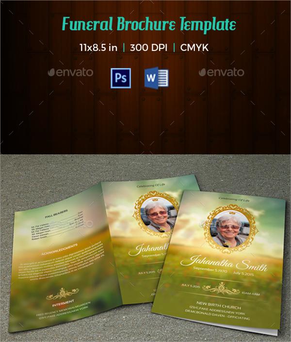 17+ Memorial Brochure Templates Sample Templates