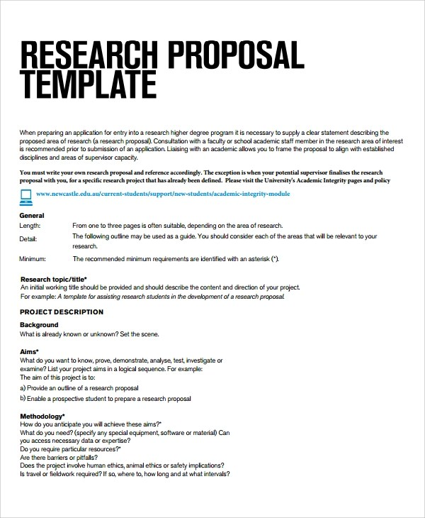 Sample Research Project Template -7+ Free Documents Download in PDF