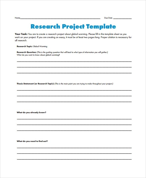 Research Proposal Template Doc  Cover Letter Sample Scholarship