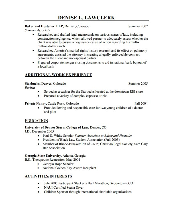 Download Resume Format Write The Best Resume Sample Nanny Resume Template 6 Free Documents Download
