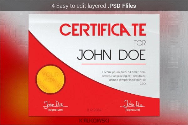 30+ PSD Certificate Templates Sample Templates - free certificate of participation template