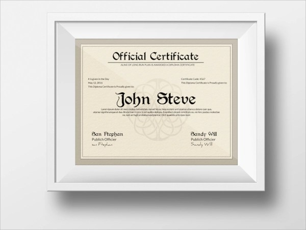 33+ PSD Certificate Templates Sample Templates