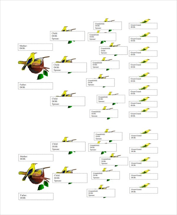 Sample Family Tree Chart Template - 17+ Documents in PDF, Word, Excel