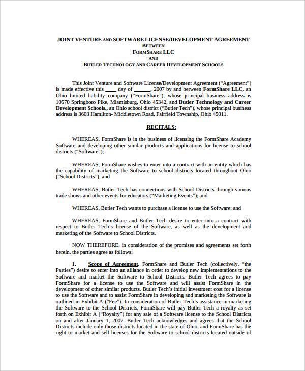 Sample Software Development Agreement Template - 9+ Free Documents - development contract templates