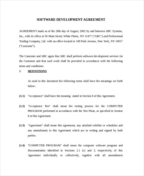 development contract templates - Basilosaur - development agreement contract