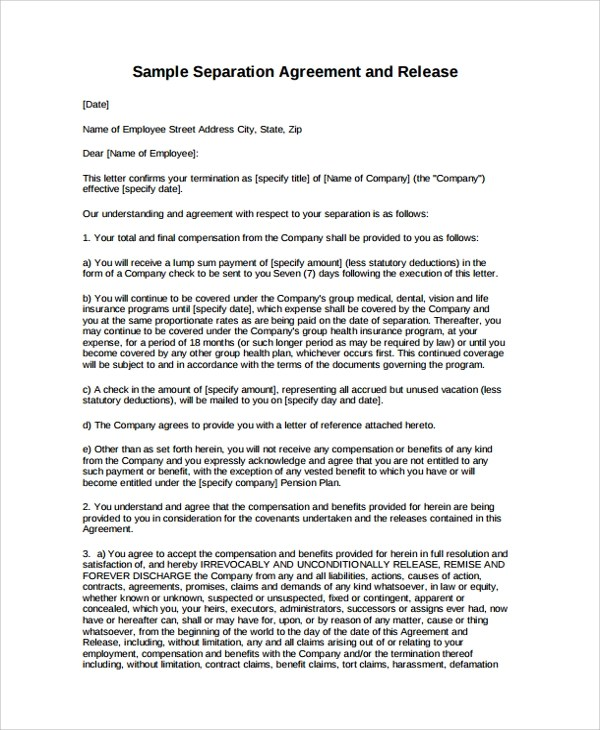 Sample Employment Termination Agreement - 8+ Free documents Download