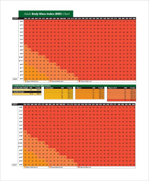 20+ BMI Index Chart Templates Sample Templates - bmi chart template