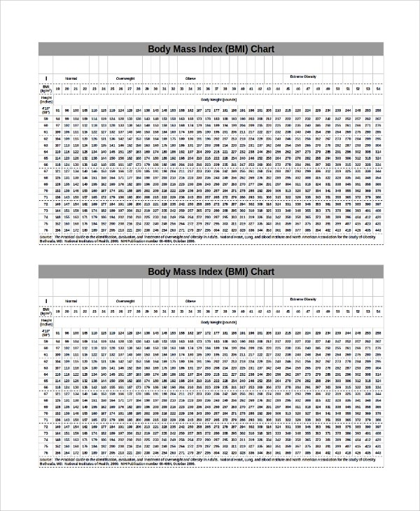 Bmi index chart template 7600627 - 1cashinginfo - bmi chart template