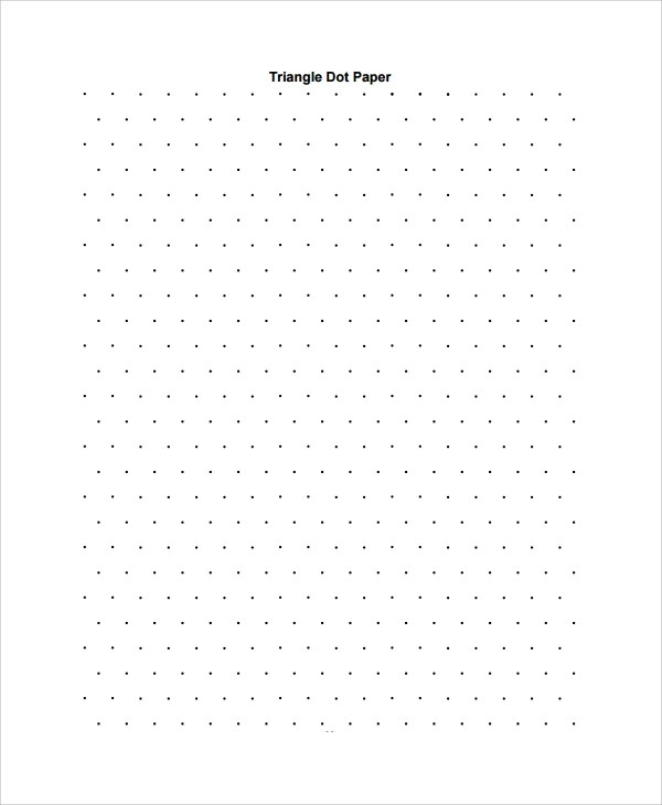 Sample Triangular Graph Paper Template - 9+ Free Documents - dot paper template