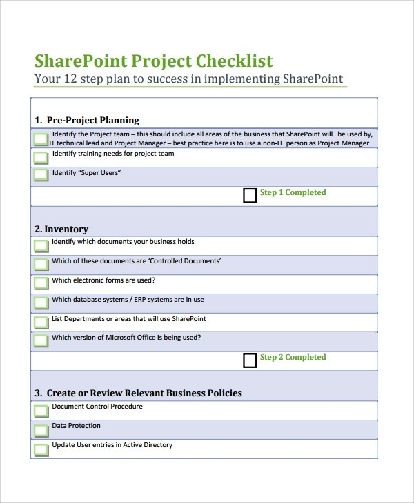7+ Project List Templates Sample Templates - sharepoint list template