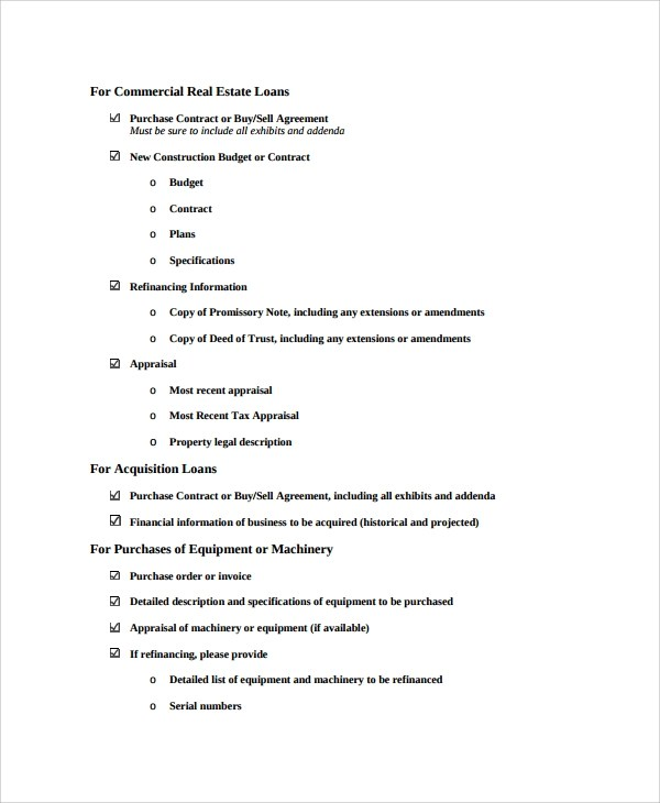 Sample Commercial Loan Agreement - 8+ Documents in PDF - commercial purchase agreements