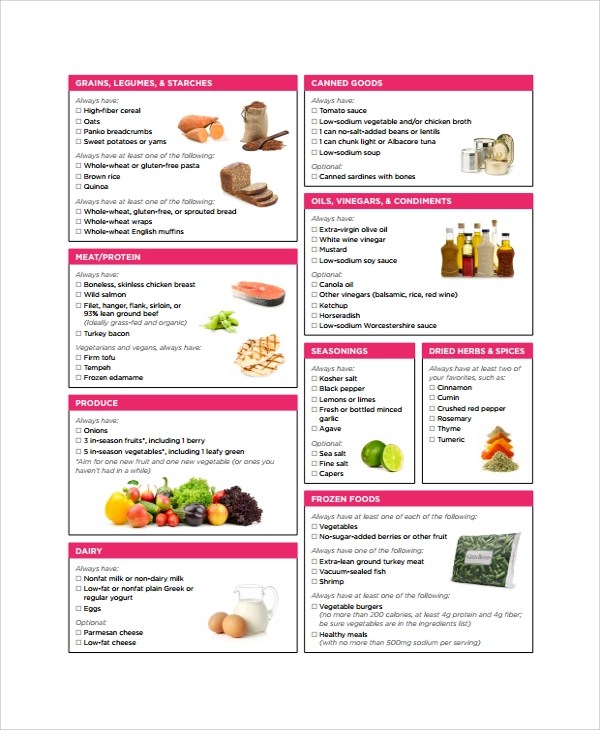 21+ Sample Grocery List Templates Sample Templates