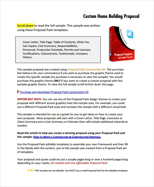 8+ Estimate Proposal Templates Sample Templates
