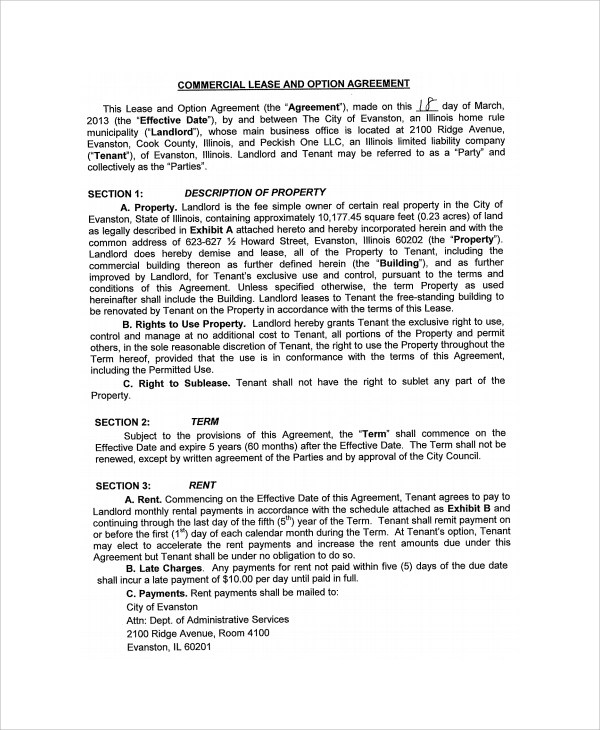 Sample Commercial Purchase Agreement - 7+ Documents in PDF - commercial purchase agreements