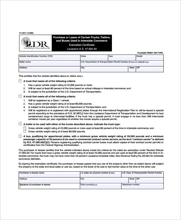 Vehicle Lease Agreement Louisiana  Employment Application Form