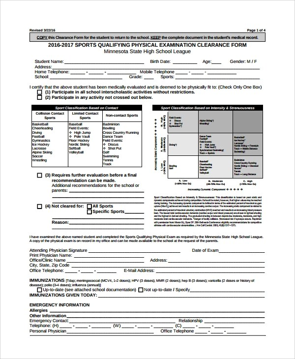 Dot Physical Form Medical Examination Requirements Commercial - physical exam form