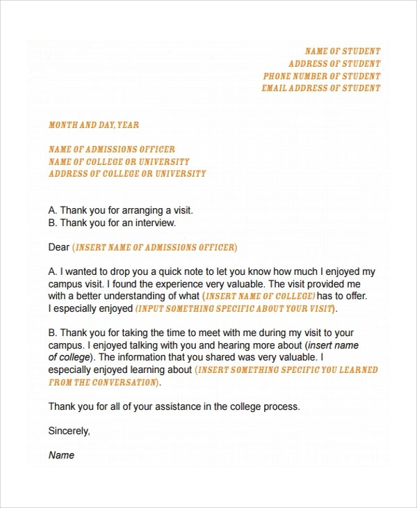 8+ Sample College Acceptance Letters \u2013 PDF, Word Sample Templates