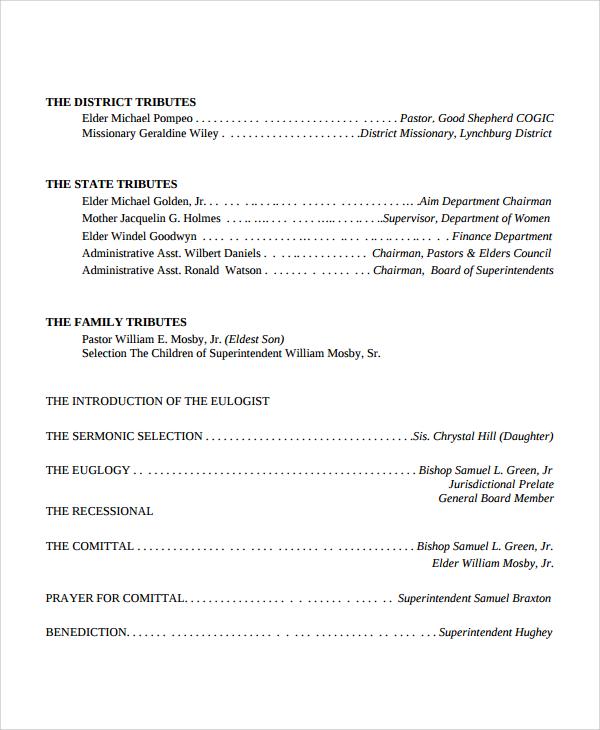 12+ Sample Funeral Obituary Templates Sample Templates