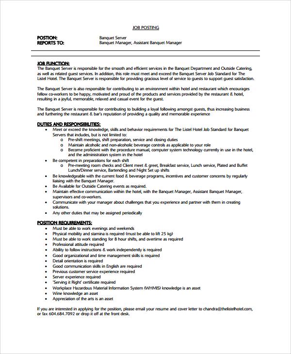 resume sample for restaurant captain