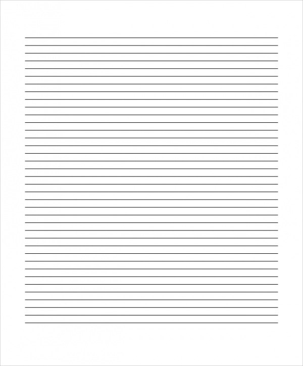 20+ Sample Lined Paper Templates Sample Templates