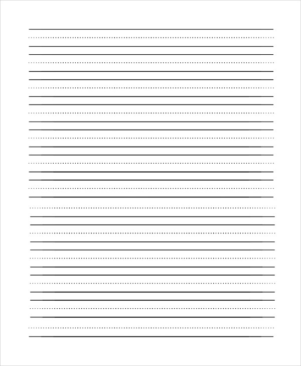 Lined Paper Pdf 100 Lined Paper Templates in PDF Free Premium