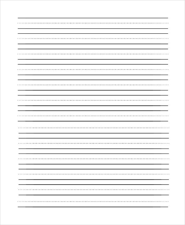 printable elementary lined paper