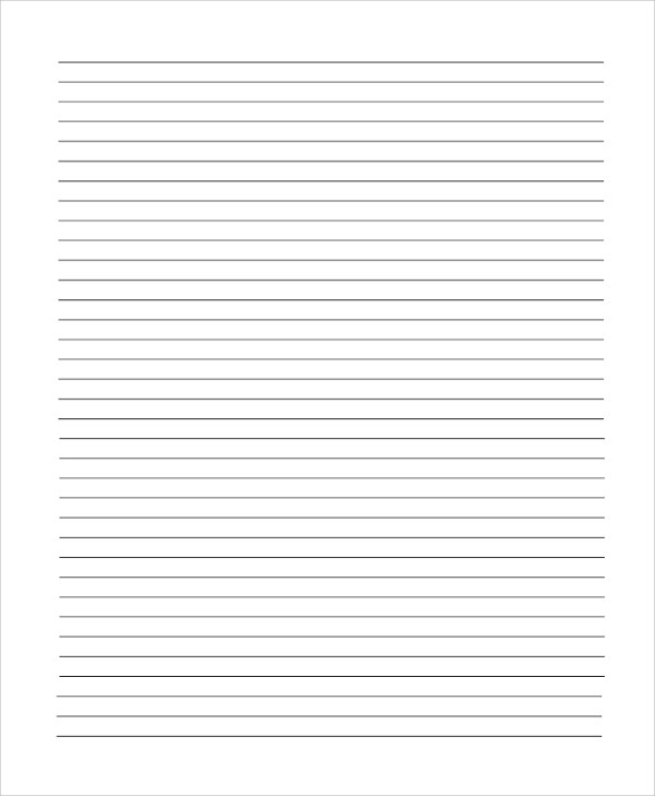20+ Sample Lined Paper Templates Sample Templates - lined paper word template