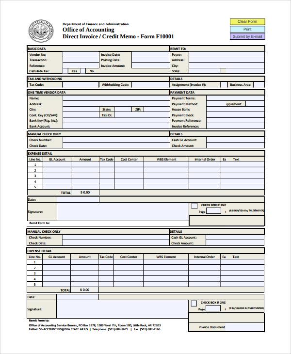 Credit memo template jobsbillybullock - sample credit memo