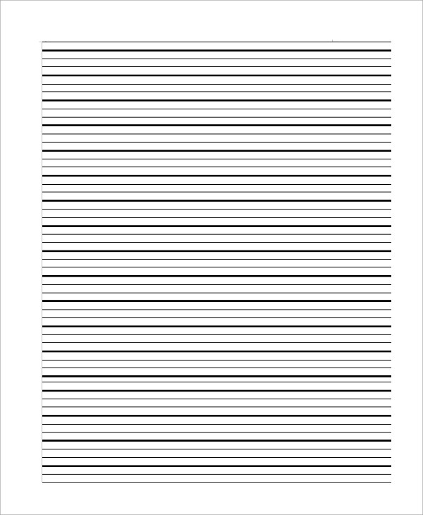 Sample Lined Papers radiogomezone - can you print on lined paper