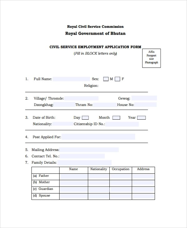 25+ Sample Job Application Forms Sample Templates - employment application word template